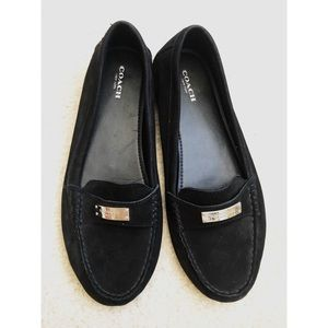 NEW coach size 10 FREDERICA loafers slip ons black
